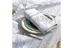 Lysandra Mist French luxury napkins by Garnier-Thiebaut, romantic, wedding, formal occasions