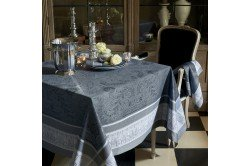 Persina Anthracite French luxury Tablecloth and table linen by Garnier-Thiebaut