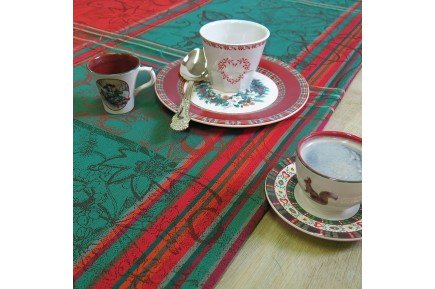 Mille Asters Noel Christmas Tablecloth by Garnier-Thiebaut