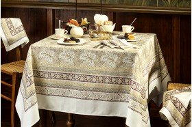 Vine Leaf Beige Tablecloth