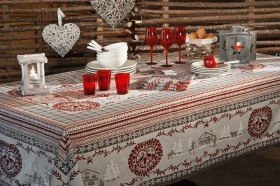 Cortina Christmas Winter Country French tablecloths by Beauville