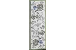 Agapanthes table runner by Beauvillé