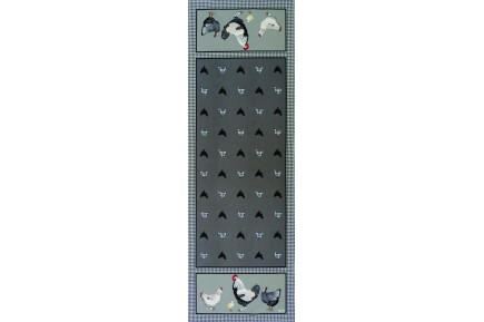 Picoti Chickens Table Runner by Beauvillé
