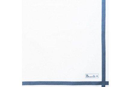 Two Color Napkin White/Blue