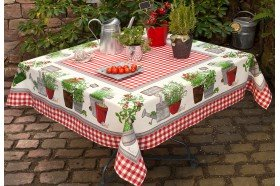 Potager Coated Tablecloth by Beauvillé