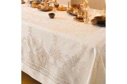 Beauregard French damask luxury tablecloth by Garniet-Thiebaut