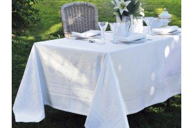 Beauregard French damask luxury tablecloth by Garniet-Thiebaut