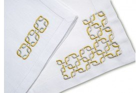 Perfection Embroidered Placemat & Napkin Set