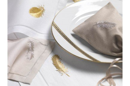 Plume Embroidered Tablecloth