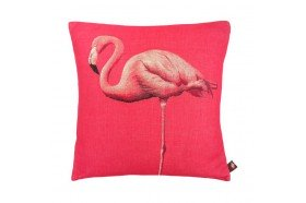 Standing Chic Flamingo Jacquard Cushion