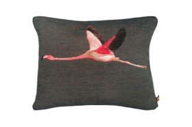 Flying Flamingo French Tapestry Pillow
