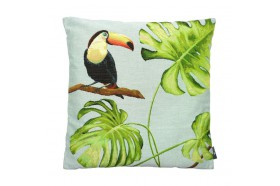 Toucan Tropicalo Chic  French Tapestry Pillow