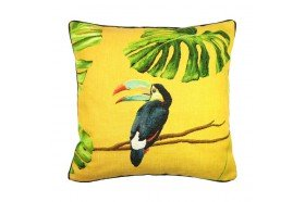 Toucan Tropical French Tapestry Pillow