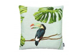 Toucan Tropical Chic French Tapestry Pillow