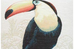 Big Toucan French Tapestry Pillow