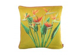 Birds of Paradise Bouquet Tapestry Pillow