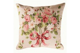 Romantic Rose Bouquet  French Tapestry Pillow