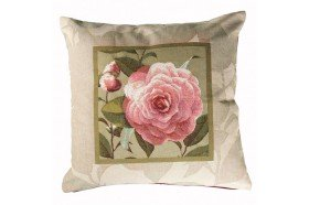 Camelias French luxury tapestry pillow