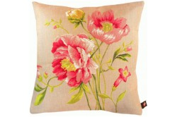 Peonies Duo French Luxury Tapestry Pillow
