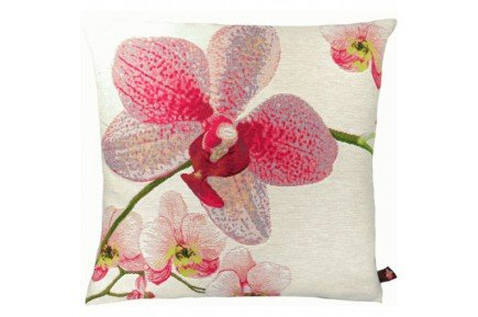 Pink Orchids French luxury Tapestry Pillow