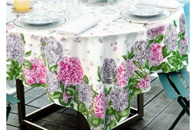 Hydrangeas Luxury French Tablecloth by Beauvillé