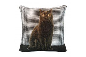 Black Cat French Tapestry Pillow