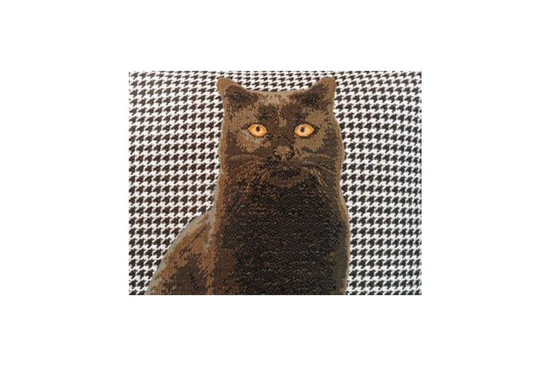 Black Cat French Tapestry Pillow For Home Decor