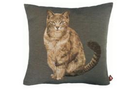 Tabby Cat Tapestry Pillow