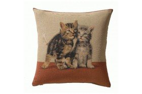 Kittens French Tapestry Pillow