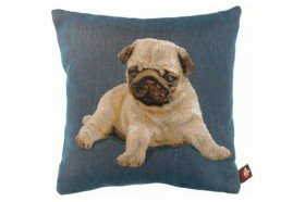 Pug Dog Puppy French Tapestry Pillow