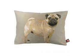 Pug Dog Standing French Tapestry Pillow
