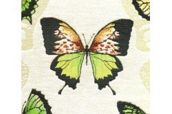Green Butterfly French Tapestry Pillow