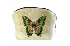 Green Butterfly Luxury Makeup Bag