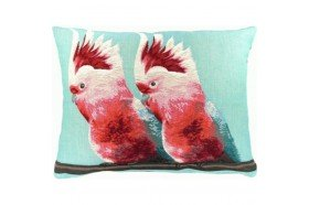 Cockatoes Exotic bird Luxury Tapestry Pillow