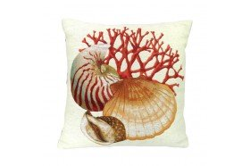 Seashells and Coral Luxury Tapestry Pillow