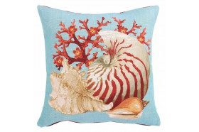 Tropical Seashells French Tapestry Pillow