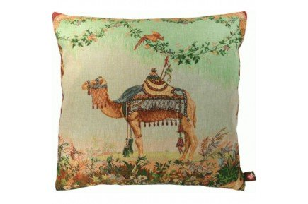 Camel Luxury French Tapestry Pillow