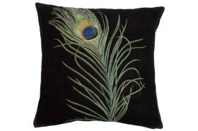 Peacock feather luxury Tapestry Pillow