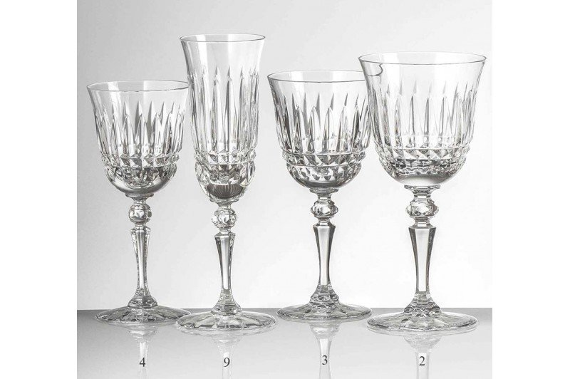 Seville French Handcut Crystal Glassware Stemware Barware