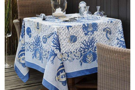 Aquarius luxury tablecloth by Beauville