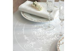 Comtesse white French luxury Tablecloth by Garnier-Thiebaut