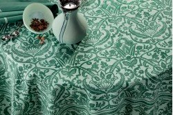 Saint Tropez Emerald Tablecloth by Beauville