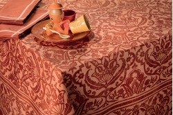 Saint Tropez Copper Tablecloth by Beauville