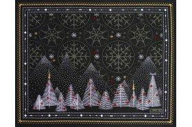 Megeve Slate Christmas placemats by Beauvillé