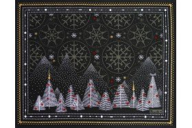 Megeve Slate Christmas placemats by Beauvillé