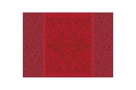 Cassandre red garnet French luxury placemats by Garnier-Thiebaut