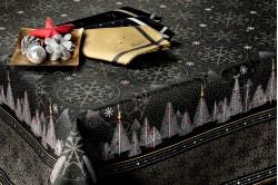 Megeve Slate Christmas tablecloth by Beauvillé
