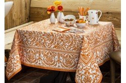 Saint Tropez  Mandarin Orange French Tablecloth by Beauville