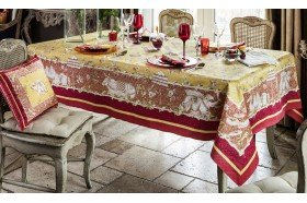 Pondichery French tablecloth by Beauvillé