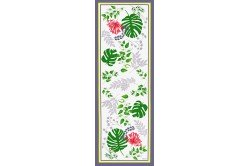 Agapanthes French table runner by Beauvillé